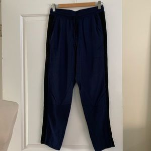 Splendid Blue Lightweight Pants Tuxedo Stripe Sz S